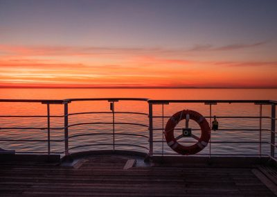 Queen Mary 2 Sunset